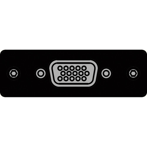 FSR IPS-V410S-BLK HD-15 to HD-15 Female Insert Plate (Black)