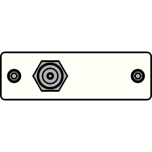 FSR IPS-V911S-WHT F-Connector to Bulkhead Insert Plate (White)