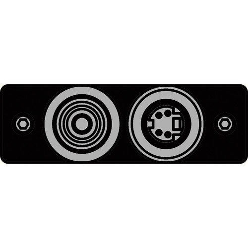 FSR IPS-V921S-BLK RCA (YEL) to BNC-S-Video to S-Video Insert Plate (Black)