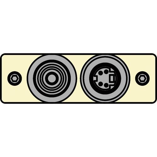FSR IPS-V921S-IVO RCA (YEL) to BNC-S-Video to S-Video Insert Plate (Ivory)
