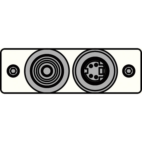 FSR IPS-V921S-WHT RCA (YEL) to BNC-S-Video to S-Video Insert Plate (White)