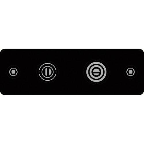 FSR IPS-V922S-BLK BNC (YEL) to BNC-S-Video to S-Video Insert Plate (Black)