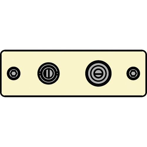 FSR IPS-V922S-IVO BNC (YEL) to BNC-S-Video to S-Video Insert Plate (Ivory)