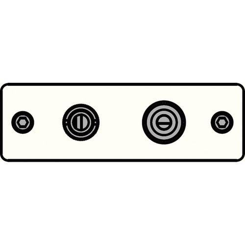 FSR IPS-V922S-WHT BNC (YEL) to BNC-S-Video to S-Video Insert Plate (White)