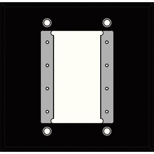 FSR IPS-WP1D-BLK 2 Gang Wall Plate (Black)