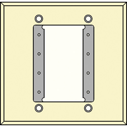 FSR IPS-WP1D-IVO 2 Gang Wall Plate (Ivory)