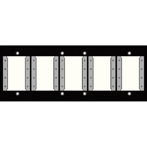 FSR IPS-WP1H-BLK 6 Gang Wall Plate (Black)