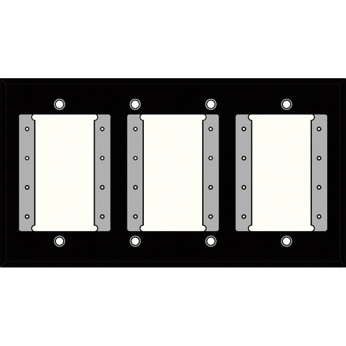 FSR IPS-WP1Q-BLK 4 Gang Wall Plate (Black)