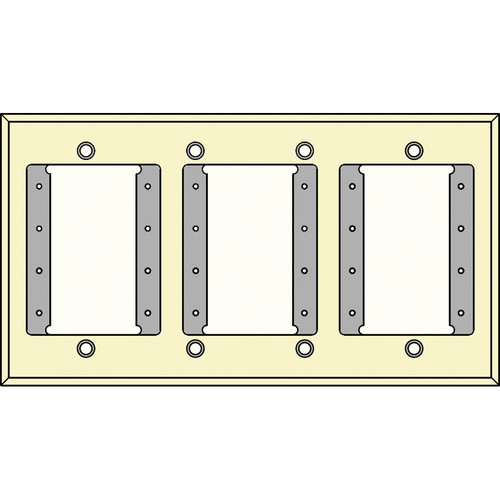 FSR IPS-WP1Q-IVO 4 Gang Wall Plate (Ivory)