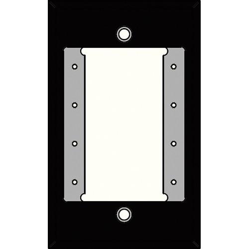 FSR IPS-WP1S-BLK 1 Gang Wall Plate (Black)