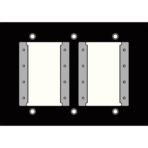 FSR IPS-WP1T-BLK 3 Gang Wall Plate (Black)