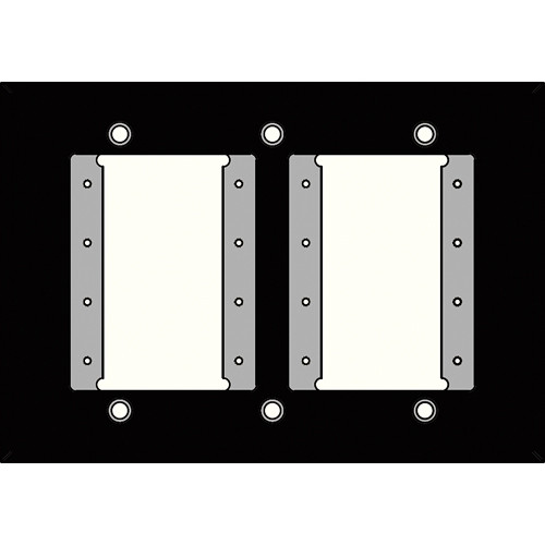 FSR IPS-WP1T-BLK 3 Gang Wall Plate (Black)