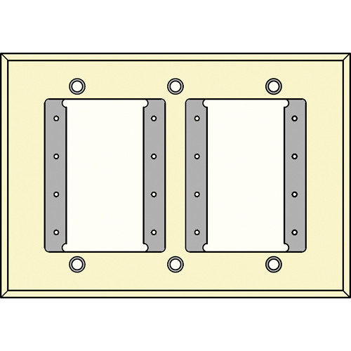 FSR IPS-WP1T-IVO 3 Gang Wall Plate (Ivory)