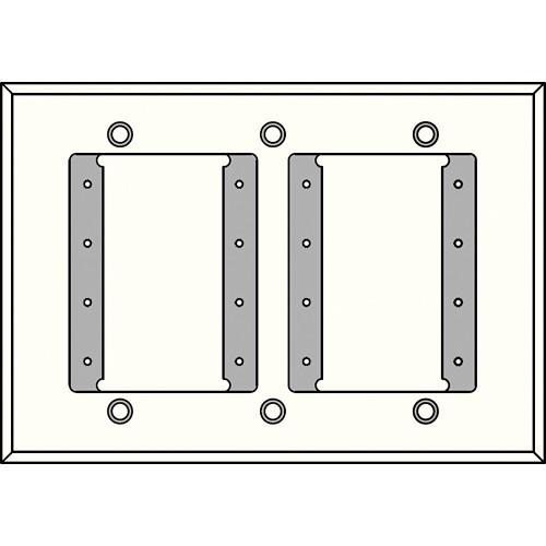 FSR IPS-WP1T-WHT 3 Gang Wall Plate (White)