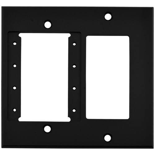 FSR IPS-WP2D-BLK 2 Gang Wall Plate (Black)
