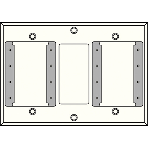 FSR IPS-WP2D-WHT 2 Gang Wall Plate (White)