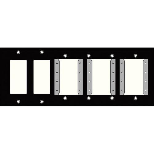 FSR IPS-WP2H-BLK 6 Gang Wall Plate (Black)