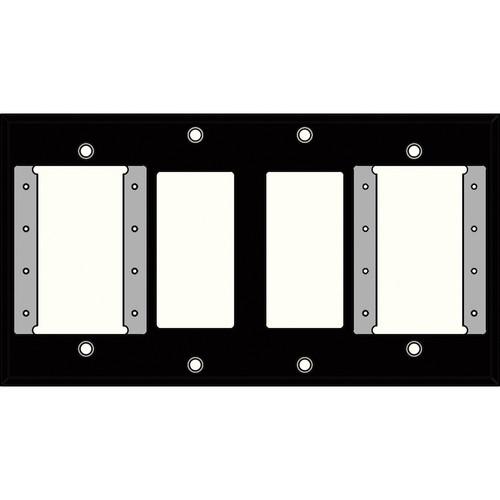 FSR IPS-WP2Q-BLK 4 Gang Wall Plate (Black)