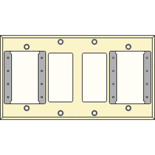 FSR IPS-WP2Q-IVO 4 Gang Wall Plate (Ivory)