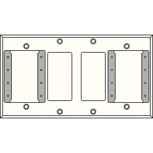 FSR IPS-WP2Q-WHT 4 Gang Wall Plate (White)