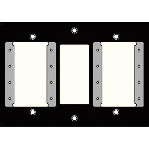 FSR IPS-WP2T-BLK 3 Gang Wall Plate (Black)