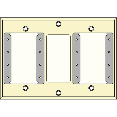 FSR IPS-WP2T-IVO 3 Gang Wall Plate (Ivory)
