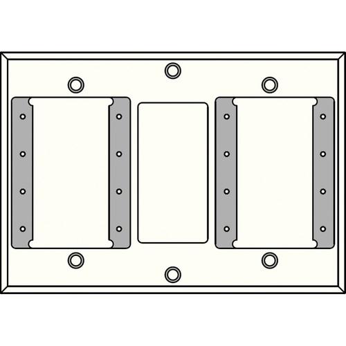 FSR IPS-WP2T-WHT 3 Gang Wall Plate (White)