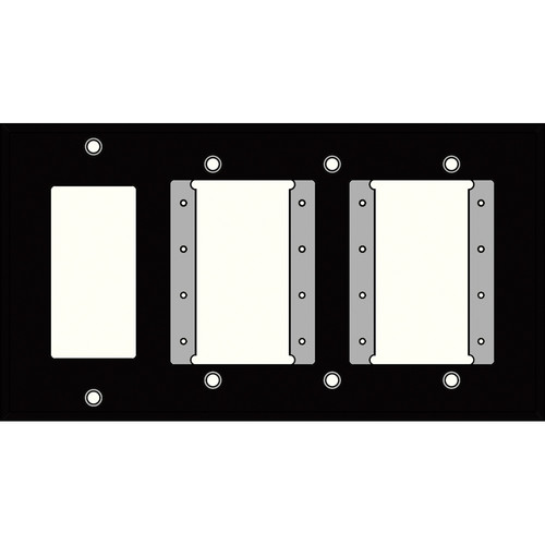 FSR IPS-WP3Q-BLK 4 Gang Wall Plate (Black)