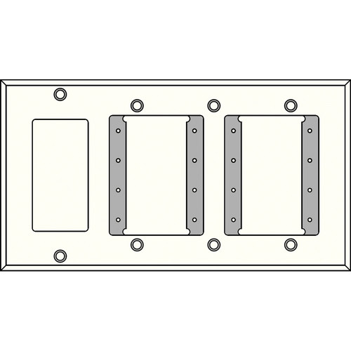 FSR IPS-WP3Q-WHT 4 Gang Wall Plate (White)