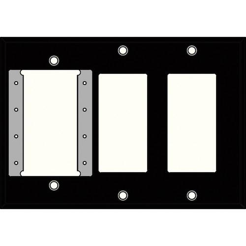 FSR IPS-WP3T-BLK 3 Gang Wall Plate (Black)