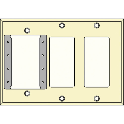 FSR IPS-WP3T-IVO 3 Gang Wall Plate (Ivory)