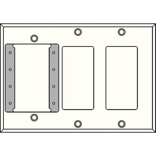 FSR IPS-WP3T-WHT 3 Gang Wall Plate (White)