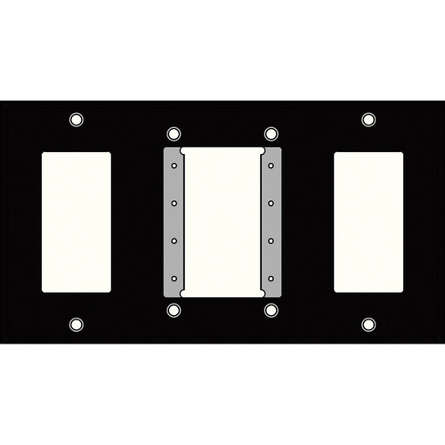 FSR IPS-WP4Q-BLK 4 Gang Wall Plate (Black)