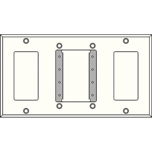 FSR IPS-WP4Q-WHT 4 Gang Wall Plate (White)