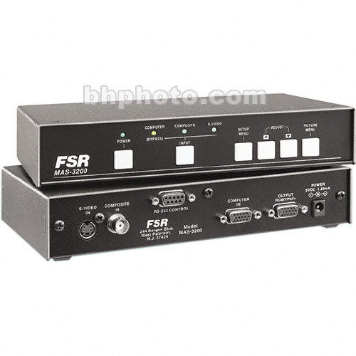 FSR MAS-3200 Scaler / Switcher Scan Converter - Composite, Y/C to VGA, NTSC PAL