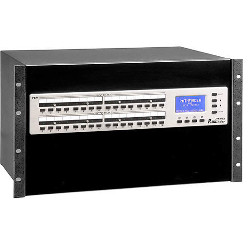 FSR PFD-16X16-RGBAEQ Pathfinder 16x16 Equalized RGBHV & Stereo Matrix Switcher
