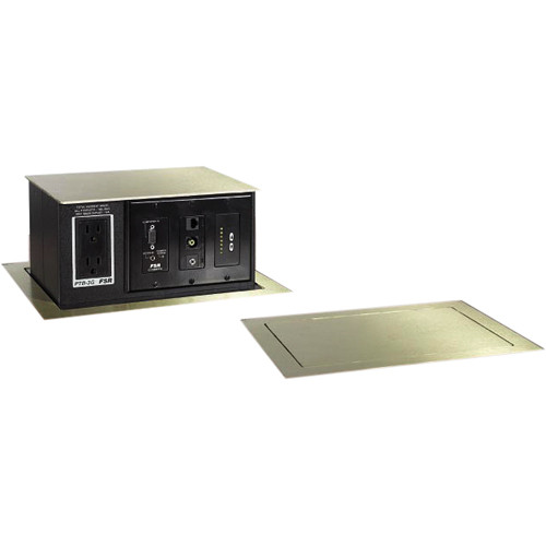 FSR PTB-4-BRS Pop-Up Table Box AC Outlet 4 Gang Brass