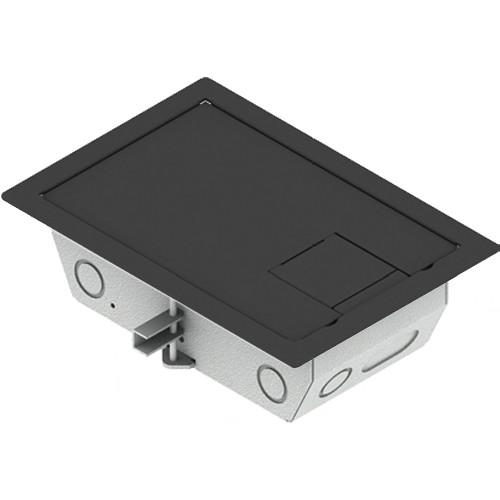 "FSR RFL3-D1G-SLBLK Carpet Trim Cover- Solid Door- 3.25"" Deep Floor Box (Black)"