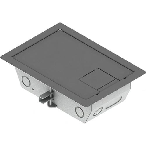 "FSR RFL3-Q1G-SLGRY Carpet Trim Cover- Solid Door- 3.25"" Deep Floor Box (Gray)"