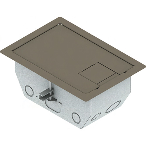 "FSR RFL4.5-D1G-SLCLY Carpet Trim Cover- Solid Door- 4.69"" Deep Floor Box (Clay)"