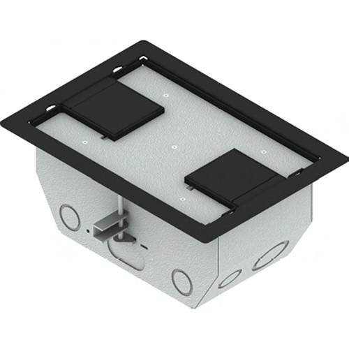 "FSR RFL4.5-D2G-BLKDD Carpet Trim Cover- Dual Door- 4.69"" Deep Floor Box (Black)"