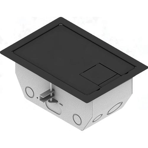 "FSR RFL4.5-D2G-SLBLK Carpet Trim Cover- Solid Door- 4.69"" Deep Floor Box (Black)"
