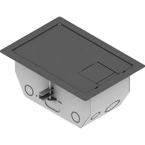 "FSR RFL4.5-D2G-SLGRY Carpet Trim Cover- Solid Door- 4.69"" Deep Floor Box (Gray)"