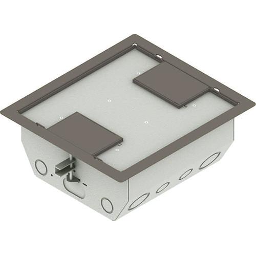 "FSR RFL4.5-Q1G-CLYDD Carpet Trim Cover- Dual Door- 4.69"" Deep Floor Box (Clay)"