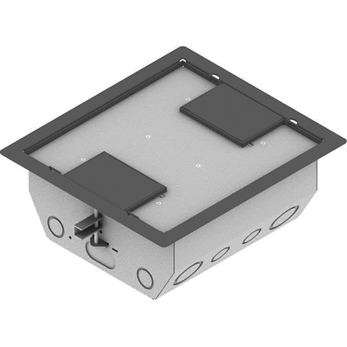"FSR RFL4.5-Q2G-GRYDD Carpet Trim Cover- Dual Door- 4.69"" Deep Floor Box (Gray)"