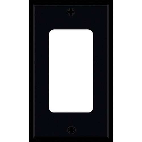 FSR SS-DPLT1-BLK Decora Wall Plate (1-Gang, Black)