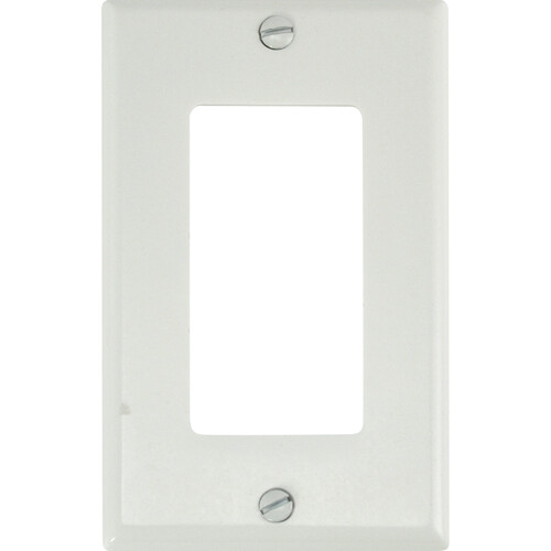 FSR SS-DPLT1-WHT Decora Wall Plate (1-Gang, White)