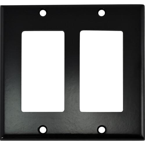 FSR SS-DPLT2-BLK Decora Wall Plate (2-Gang, Black)