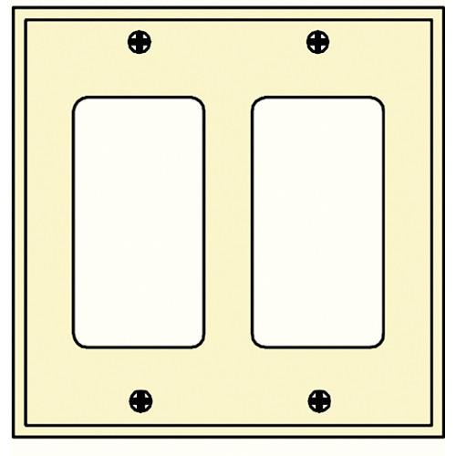 FSR SS-DPLT2-IVO Decora Wall Plate (2-Gang, Ivory)