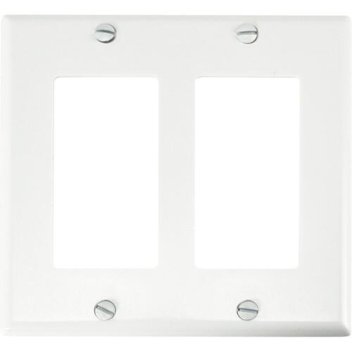 FSR SS-DPLT2-WHT Decora Wall Plate (2-Gang, White)